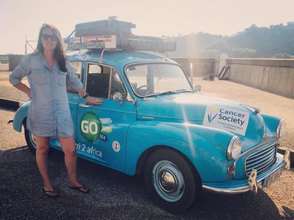 Woman drives from Scotland to Cape Town