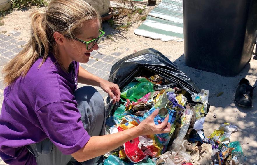 Children turn trash into art