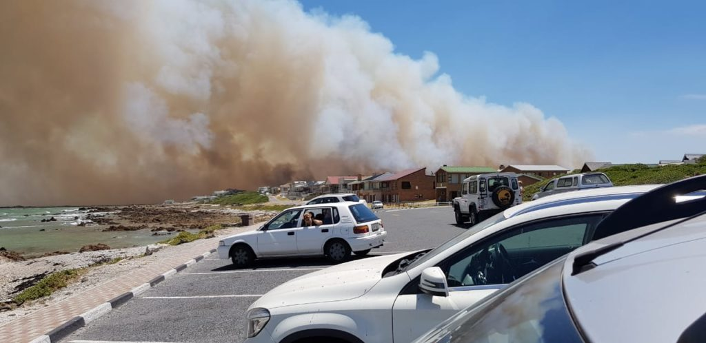 Overstrand fire reignites, evacuation ordered