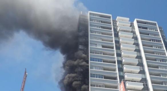 Sea Point apartments burn