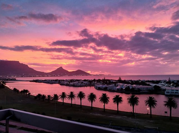 When the sun sets in Cape Town