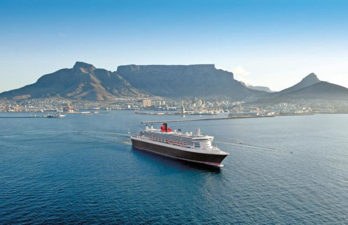 Ships docking in Cape Town in April