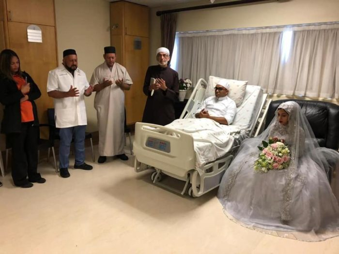 Couple get married in hospital