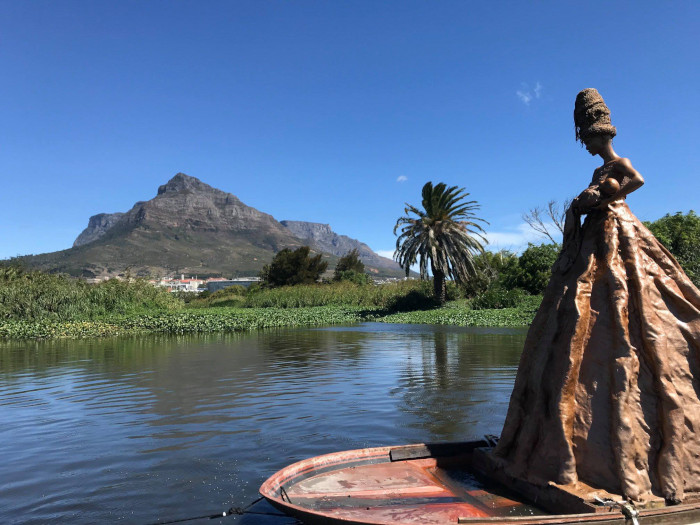 Mysterious Black River statue returns