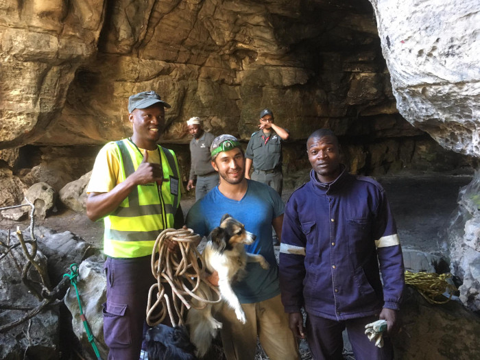 Dog rescued at Silvermine Nature Reserve