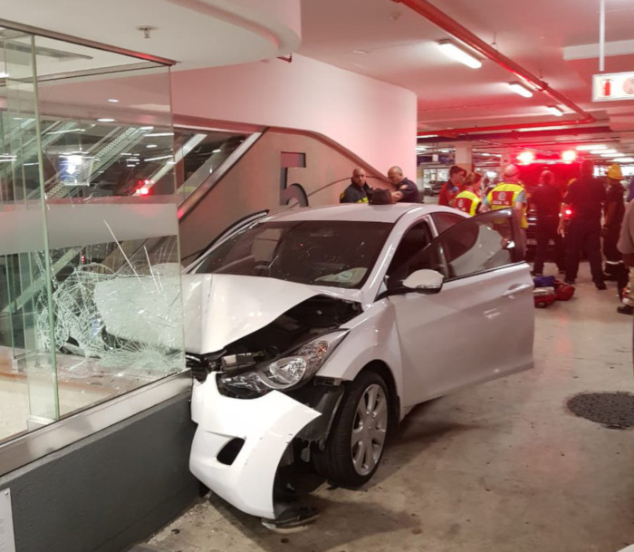 Man totals car in underground parking