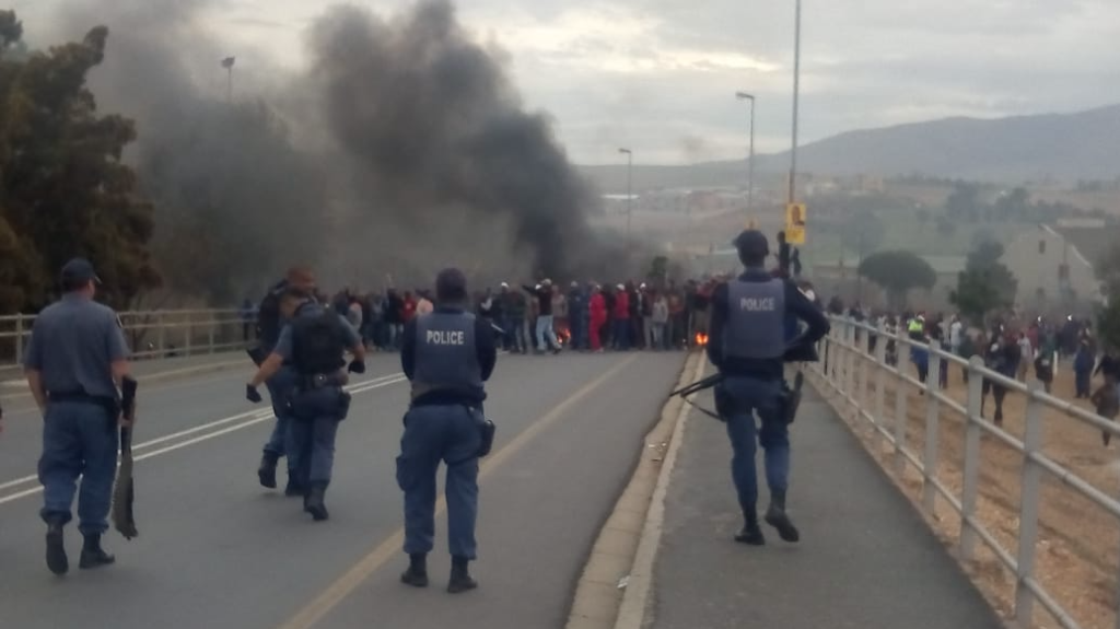 Roads closed following Caledon protest