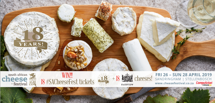 WIN: Tickets to the 2019 SA Cheese Festival (closed)