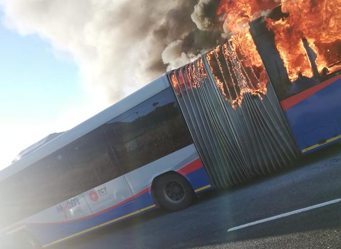 MyCiti bus alight near Hospital Bend